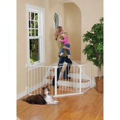 This Auto Close ConfigureGate from KidCo helps keep little ones blocked off from off-limits areas; its great for use in any extra-wide or odd-shaped area. All its joints rotate to set individual sections to the ideal angle, and then easily lock in place. The handle design on the extra-wide door employs a dual-magnet design that automatically pulls the door closed and keeps it locked. The ConfigureGate also employs a hold feature that suspends the auto-close function until the door is pushed…