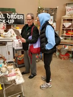 Mom and Terri shopping