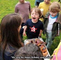 They sang the happy birthday song to him
