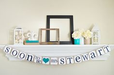 Bridal Shower Decorations - Bridal Shower Banners - Soon To Be Mrs Banner - Bachelorette Party - to be mrs