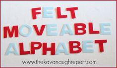 DIY Felt Montessori Movable Alphabet