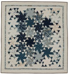 This twirling Sparklers quilt starts with a Jelly Roll in calm, cool colors - do you have a Jelly Roll that needs a meetup with this pattern? :)