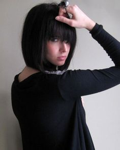 Short Hair Straight Bangs; I could see me in this style.