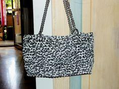 White & grey bag