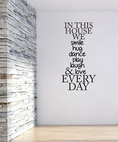 Look what I found on #zulily! 'In This House We' Wall Decal #zulilyfinds