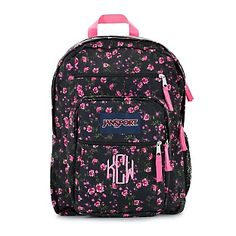 Embroidered JanSport® Big Student Backpack Lipstick Pink Tea , Add a Monogram, Name or Initials