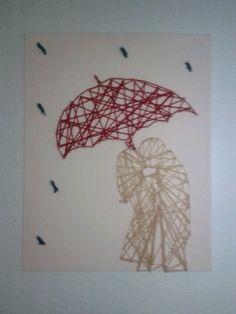Nail and yarn art