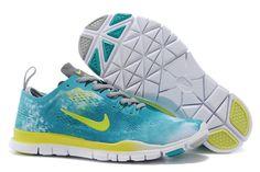 eshop Nike Training boty Pánské Dámské Free TR FIT 4 Camo modrý žlutý sk Air d82468546a0