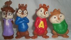 McDonalds Alvin Chipmunks Squeakquel Theodore Simon Set 4 Toy Lot 2009 Works | eBay