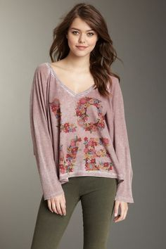 Go Couture  Floral Love Dolman Thermal