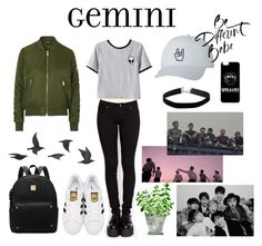 """""""g e m i n i"""" by alnblack ❤ liked on Polyvore featuring Topshop, Chicnova Fashion, Miss Selfridge, adidas Originals and Jayson Home"""