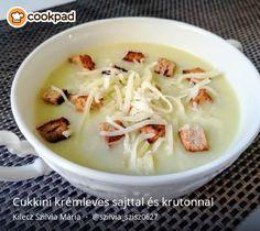 Cukkini krémleves sajttal és krutonnal Cabbage, Vegetables, Food, Essen, Cabbages, Vegetable Recipes, Meals, Yemek, Brussels Sprouts