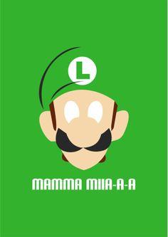 Camisa Criativa - Luigi Mamma Miiia-a-a www.inkdea.com.br