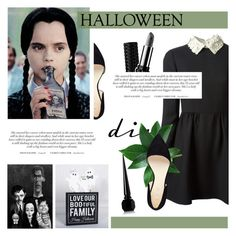 """DIY Halloween Costume"" by antemore-765 ❤ liked on Polyvore featuring Nine West, Christian Louboutin, Valentino and Kat Von D"