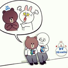 Poor Brown... Cony is always angry with him...