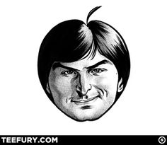 'Head of Apple'. An old caricature of a young Steve Jobs. Celebrity Caricatures, Celebrity Drawings, Steve Jobs Apple, Goofy Face, Web Design, Doctor Whooves, So Creative, Famous Celebrities, Old Art
