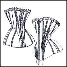 PATTERN! 1880s corsets. Detailed patterns for six different corsets in .pdf format.