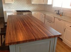 This Is An Edge Grained Black Walnut Countertop.