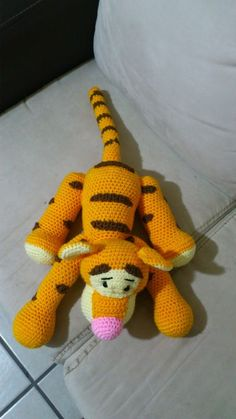 amigurumi tigger from winnie the pooh free crochet pattern / tutorial