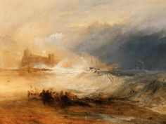"J.M.W. Turner – ""Wreckers Coast of Northumberland"" 1834"