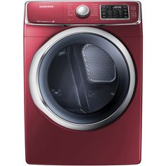 Samsung DV42H5400GF 7.5 Cu. Ft. Front-Load Gas Steam Dryer with Drying Rack, Merlot >>> See this great product.