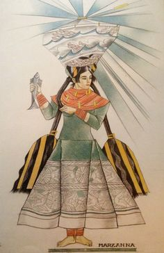 """Rysunek z teki """"Bożki słowiańskie"""" 1934, projekty do niezrealizowanej teki litograficznej, Muzeum Narodowe w Warszawie Artsy Fartsy, Illustration Art, Art Illustrations, Fairy Tales, Folk, Art Deco, Princess Zelda, Animation, Costumes"""