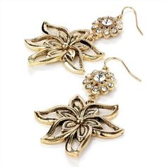 Minerva Collection Flower Detail Drop Pierced Fashion Earrings Antique Gold by Minerva Collection, http://www.amazon.co.uk/dp/B00B844BSO/ref=cm_sw_r_pi_dp_Z.Kdrb050S58D