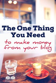 No matter what avenue you're using to make money from your blog, you need this in place to be successful.