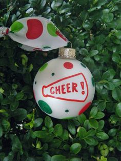 Cheerleading Ornament Personalized Cheer by BrushStrokeOrnaments
