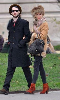 Sienna Miller in the Newbury Boot in Brick