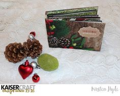 Pop-up mini album with tutorial. Created for Kaisercraft with the Silent Night Collection. Created by Kirsten Hyde.