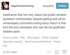 """Actually in one of the books he goes """"nice hit from Fred - no, George - oh, one of them, anyway, nice move from Gryffindor beaters"""" or something along those lines"""