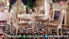Ornament Classic Carving Meja Makan Mewah Louis Louvre Luxury Empire BT-0821
