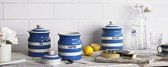 Amazon.com: Cornishware Coffee Storage Jar with Lid, 3-1/2-Cup: Kitchen Storage And Organization Product Sets: Kitchen & Dining