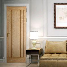 Bespoke Lincoln Oak 3 Panel Door.    #newdoor #traditionaldoor #elegantdoor #elegantinterior #interiordesign