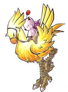 Chocobo Riding Moogle by lizspit on deviantART | Final Fantasy | Square Enix