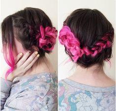 braided dyed hair