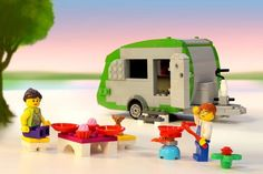 A life-sized, fully functioning LEGO caravan would break the Guinness World Record this October. Photo: Courtesy of LEGO.