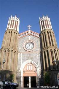 Cathedral of the Immaculate Conception ~ Port-of-Spain, Trinidad Port Of Spain, Immaculate Conception, Catholic Churches, Roman Catholic, Lost City, Place Of Worship, Small Island, Beautiful Architecture, Island Life