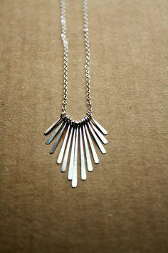 Delicate Dainty Silver Necklace / Fringe by CaprichosaJewelry