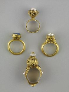 Rings, Chalcis Treasure. 14th century. British Museum