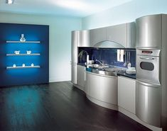 Metal can be used to great effect to create a functional and efficient space in even a small area.