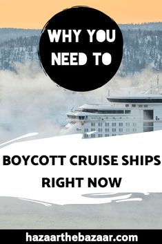 More people are choosing to cruise every year, but the industry has some slimy secrets. Here's why you need to boycott cruise ships. Slow Travel, Ways To Travel, Budget Travel, Travel Tips, Wildlife Tourism, Responsible Travel, Cruise Travel, Cruise Ships, Cruises