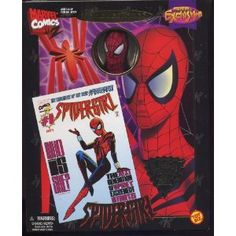 """Previews Exclusive: Famous Cover Series   -  Spider-Girl, The Daughter of Spider-Man, 8"""" Ultra Poseable Action Figure with Authentic Fabric Costume:  It's a bit ridiculous but there's very few Marvel 2 Universe figures.  And the one I own used to belong to the comic artist Lee Leslie.  I bought this at Vintage Stock."""