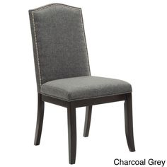 Worldwide Jazz Dining Chair (Set of 2) (Charcoal), Grey (Faux Leather)