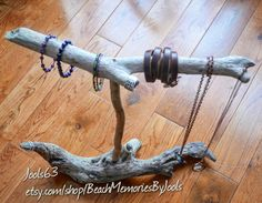 Jewelry display, driftwood display, necklace holder, necklace display, driftwood jewelry display, bracelet display,  etsy, beachmemoriesbyjools