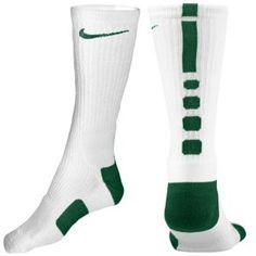 Nike Elite Basketball Crew Sock - Men's - Basketball - Accessories - White/Gorge Green
