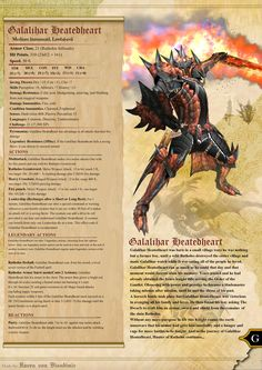 Galalihar Heatedheart Dungeon and Dragons 5E by RavenVonBloodimir