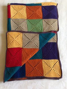 Autumn colours #crochet #solid #granny #square #blanket #LesykArt  #кольори осені - #покривало #гачком #квадрати #ЛесикАрт