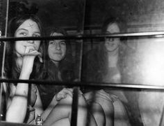 vintage everyday: Murder Trial Photos of Charles Manson and the Manson Family from 1969 to 1971